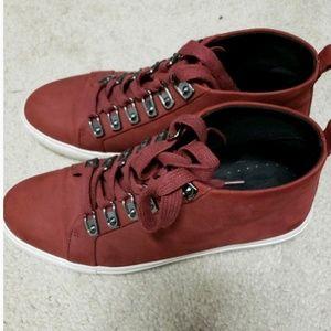 NEW burgundy bootie sneakers